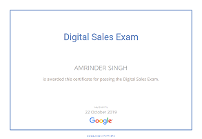 Amrinder Singh google parter Digital Sales piim