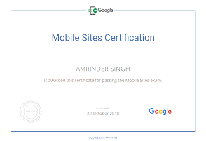 Amrinder Singh google parter Mobile sites piim