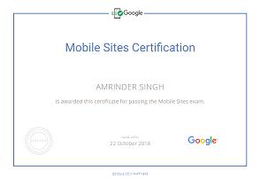 Amrinder Singh google parter Mobile sites piim