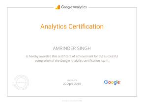 Amrinder Singh google parter analytics piim