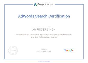 Amrinder Singh google parter piim