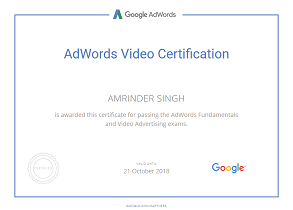 Amrinder Singh google parter video piim