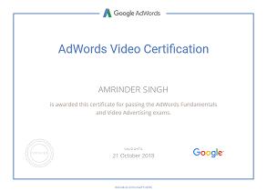 Amrinder Singh google parter video piim